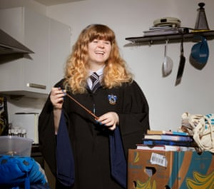 Megan Myer as Luna Lovegood, at home in Sheffield.