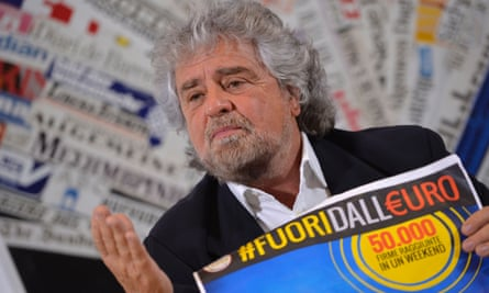 Beppe Grillo, the M5S founder