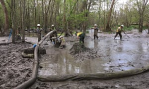A Rover pipeline spill of more than 2m gallons of drilling mud in a wetland in Ohio.