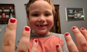 Aaron Gouveia's son who loves to pain his nails.