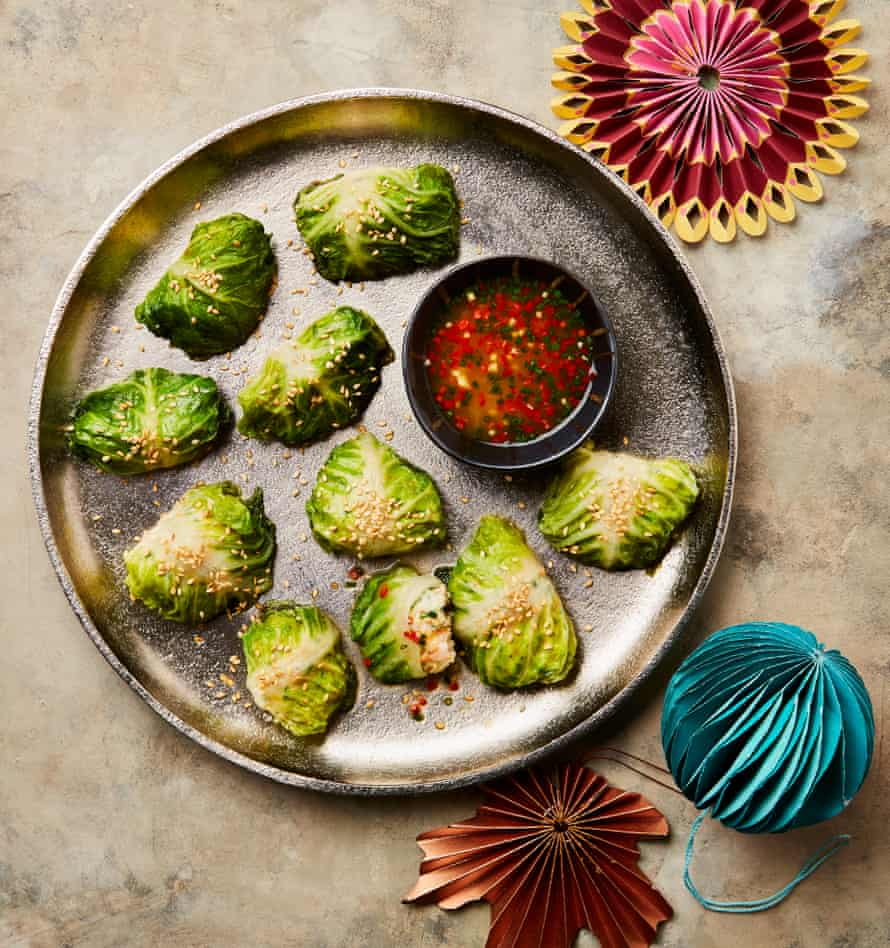 Yotam Ottolenghi Lettuce and Prawn Meatballs with Tangerine Sauce