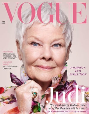 Vogue's June cover featuring Judi dench.