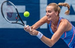 Petra Kvitová at the Czech Tennis President's Cup charity tournament in Prague, Czech Republic, May 2020.