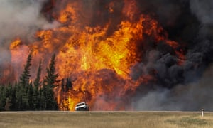 Wildfire in Alberta, Canada