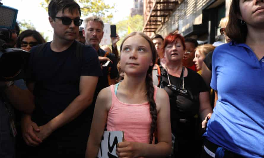 Swedish climate activist Greta Thunberg, 16, in New York