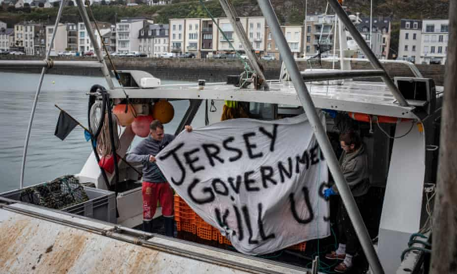 French fishers back in Granville, France after their protest in Jersey waters