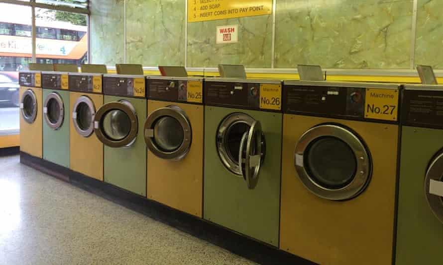 An empty launderette in Clapton, London.