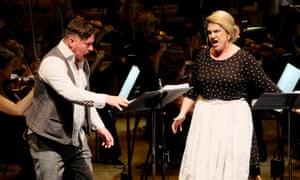 Unfailingly singable … Rosie Aldridge and Benedict Nelson with the BBCSO.