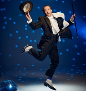 Actor and comedian Ben Miller dressed as dancer Anton du Beke