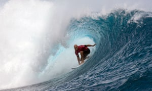 Kelly Slater during a surfing competition.