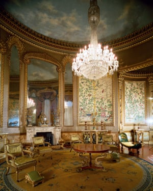 Blindingly bright: the saloon at Brighton pavilion in 2010, before the restoration.