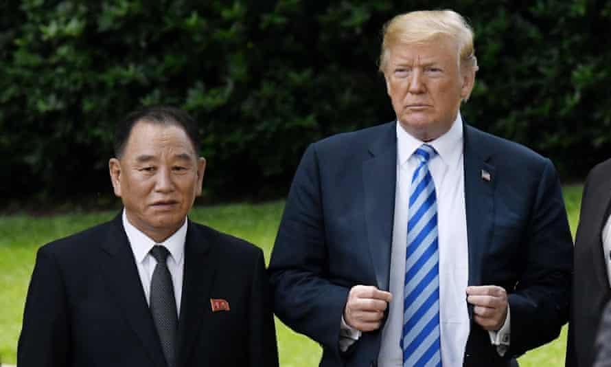 Trump and Kim Yong-chol on Friday.