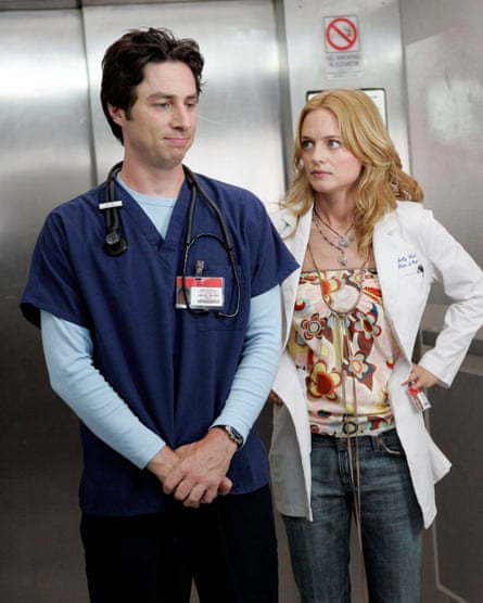Terrible on paper: Zach Braff and Heather Graham in Scrubs