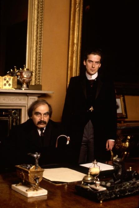 David Suchet as Verloc and Peter Capaldi as Vladimir in the 1992 BBC adaptation of The Secret Agent