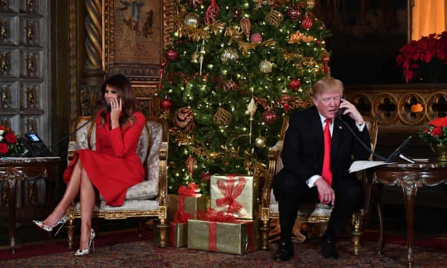 Melania and Donald Trump at Mar-a-Lago