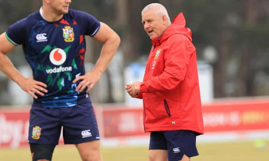 Warren Gatland in Lions training