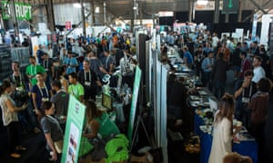 Startup Alley at the TechCrunch Disrupt SF conference in San Francisco.