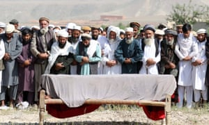 The funeral of a victim of the US drone strike last week.
