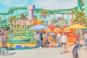 A fairground in Santa Cruz, California photographed by Australian photographer Ben Thomas.