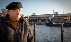 Franz Pluep, a retired trawler captain, in Sassnitz harbour.