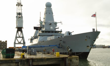 HMS Daring, one of the Royal Navy's six Type 45 destroyers