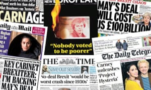 UK Front pages collage from Thursday 29 November