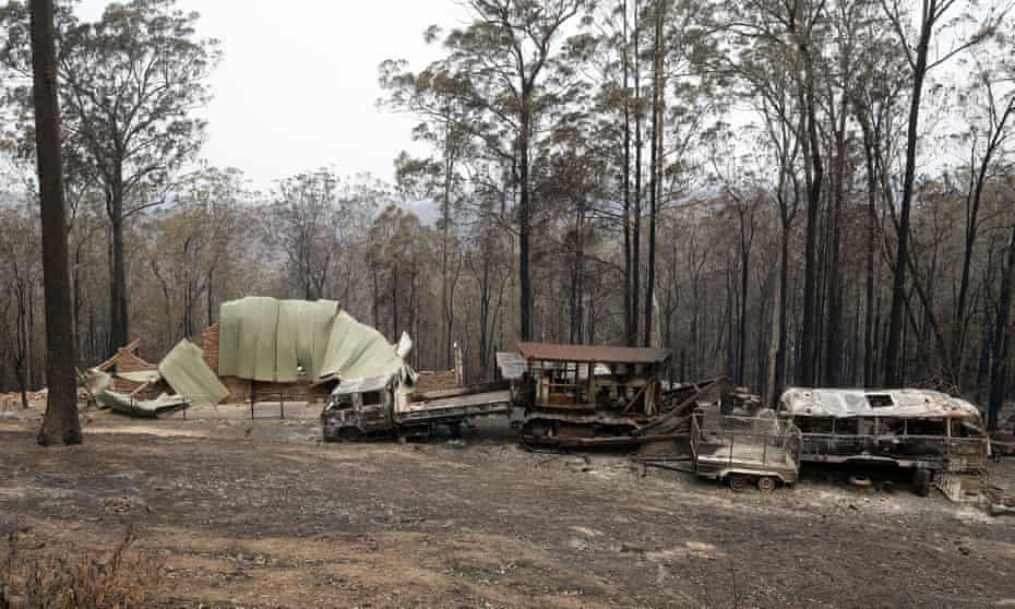 A property destroyed by fire