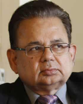 Justice Dalveer Bhandari of India, the final judge on the ICJ bench.