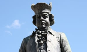 The statue of James Boswell in Lichfield, Staffordshire, the birthplace of Samuel Johnson.