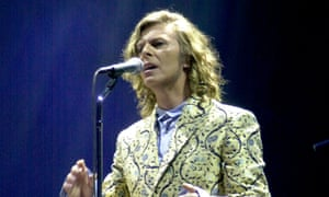 Bowie at Glastonbury in 2000: nervous but determined