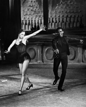 Suzanne Farrell and Arthur Mitchell in an NYCB production of Slaughter On Tenth Avenue in 1968