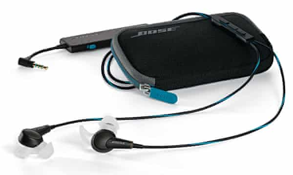 Bose QC20 headphones and carrying case