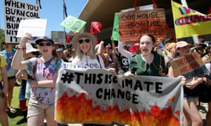 Activists from School Strike 4 Climate and Extinction Rebellion protest in Perth, Australia.