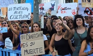 Protest against bullfighting in Palma