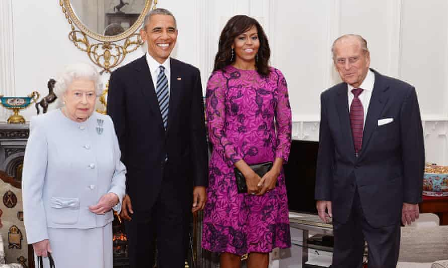 Queen and Prince Philip with Barak and Michelle Obama in 2016.