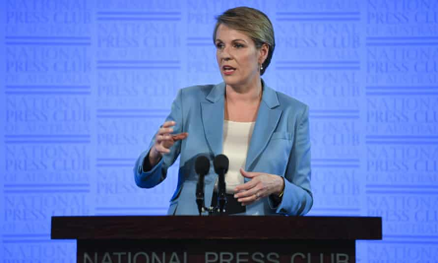 Tanya Plibersek delivers an International Women's Day address at the National Press Club in Canberra.