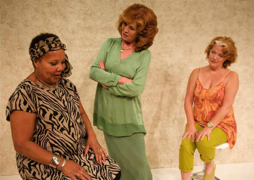 Sylvestre (left) with Rula Lenska (centre) and Louise Jameson in Love, Loss, and What I Wore by Delia and Nora Ephron at the Mill Theatre in Berkshire in 2015.