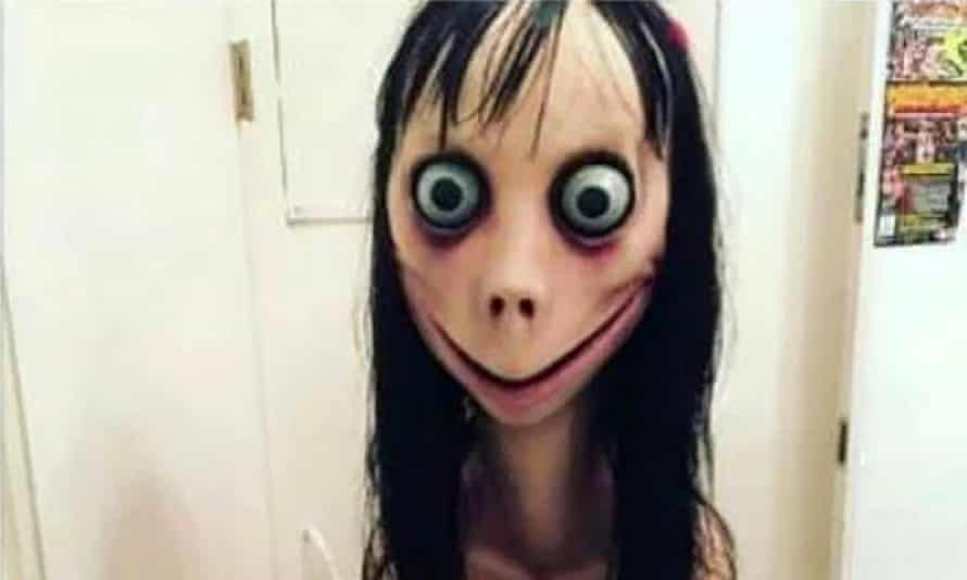 The Momo character claimed to be involved in an online suicide challenge.