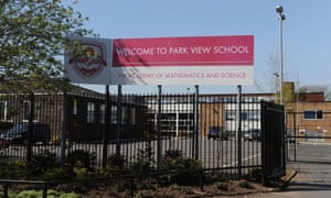 Park View school in Birmingham. Five senior staff and teachers are accused of allowing 'an undue amount of religious influence in the education of pupils'.