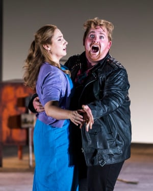 Nicky Spence as Steva Buryja with Laura Wilde in English National Opera's production of Jenufa.