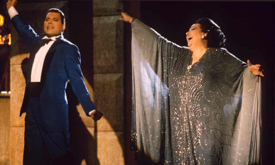 Freddie Mercury and Montserrat Caballé in 1987. He was a great fan and called her voice 'the best in the world'.