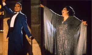Montserrat Caballé and Freddie Mercury on the video set of Barcelona in 1987.