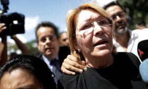 Venezuela's chief prosecutor Luisa Ortega Diaz in front of the public prosecutor's office in Caracas, Venezuela.