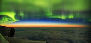 AURORAE: Aurora Shot from Plane © Ye Ziyi (China) – HIGHLY COMMENDED
