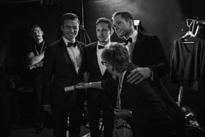 Stars of the upcoming Elton John biopic; Richard Madden, Jamie Bell and Taron Egerton