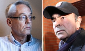 Former Nissan executive Greg Kelly (L) said there had been no final agreement on the pay of former chairman Carlos Ghosn (R).