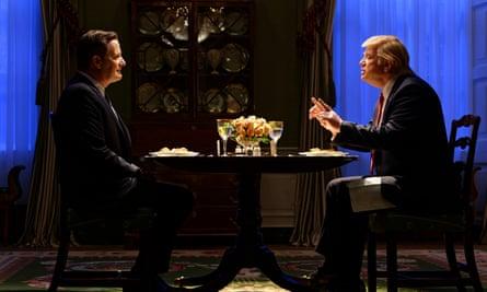 Jeff Daniels, left, and Brendan Gleeson in The Comey Rule