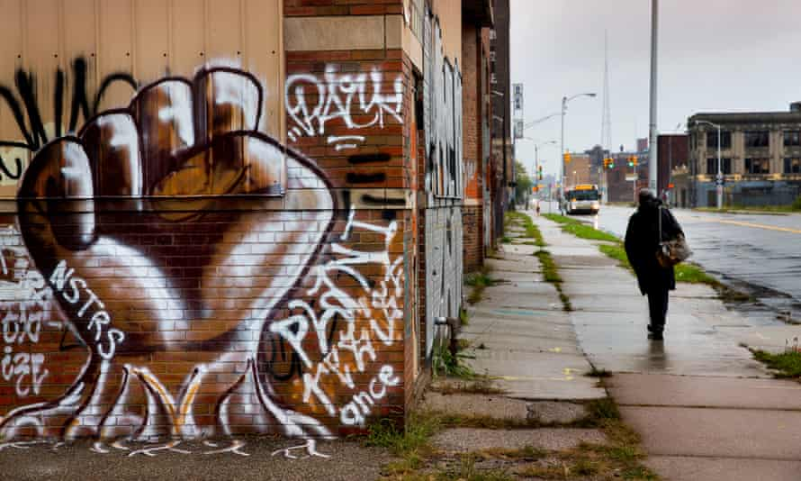 'Largely black residential neighbourhoods still suffer from the long-term effects of Detroit's urban crisis.'