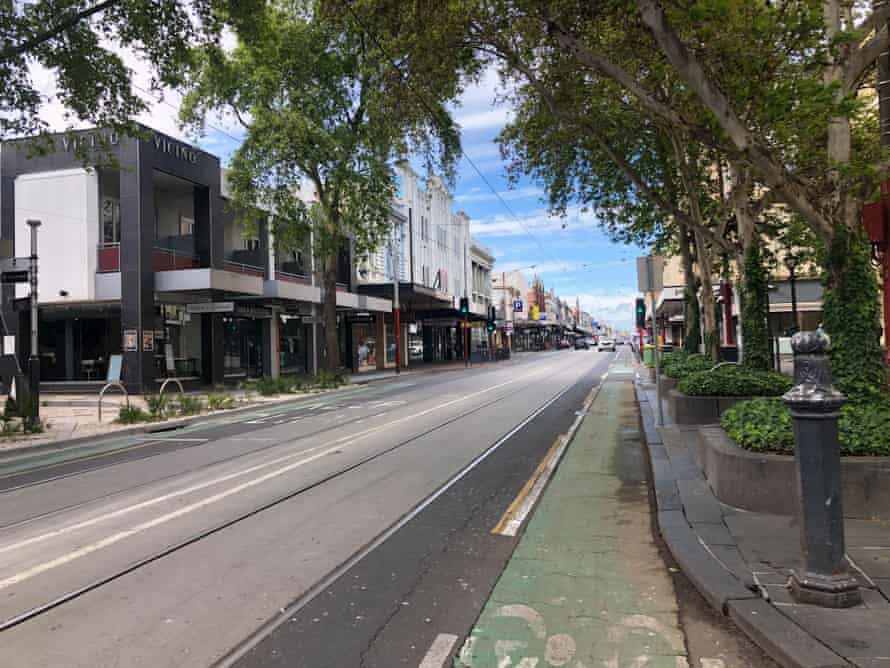 Chapel Street in Melbourne. One in two hospitality business will be unable to reopen on Wednesday due to density limits.