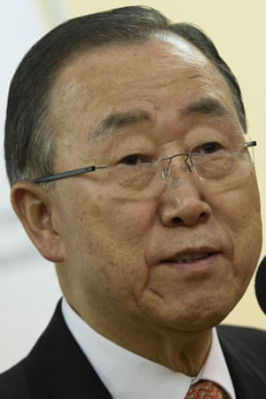 Ban Ki-moon said there 'is no so-called security solution'.